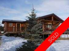 Water Valley Alberta Real Estate - Log Home For Sale:  3 bedroom 1,349.81 sq.ft. Log Home on 9.7 Beautiful Acres (Listed 2013-01-05)